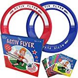 Activ Life Frisbee Rings for Kids [Red/Blue] Fun for Christmas Stocking Stuffers, Birthday Presents Cool Xmas & Top Bday Toys for 4 Year Old Boy & Girls - Top Outdoor Games Children Love to Play-