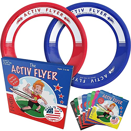 Product Image of the Activ Life Frisbee Rings for Kids [Red/Blue] Fun for Christmas Stocking...