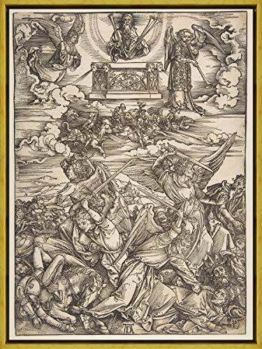 Berkin Arts Marco Albrecht Durer Giclee Lienzo Impresión Pintura póster Reproducción Print(Los Cuatro ángeles Vengadores del Apocalipsis) #XLK