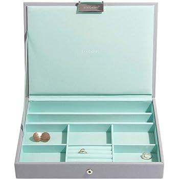 Stackers Grey Coral Classic Medium Jewellery Box Chunky Jewellery Layer