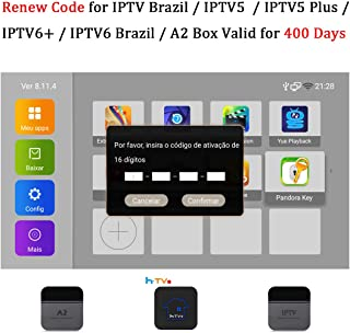 16-Digit Brazil TV Box Renew Code for IPTV Brazil / IPTV5 / IPTV6 / IPTV5 Plus / IPTV6 Plus / A2 TV Box Brazil Brazilian TV Box Activation Code Subscription ...