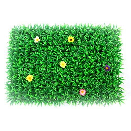 Césped Artificial Alfombra de césped Artificial de Flores de plástico Césped de simulación Vestido de Boda de Navidad Valencia (Color : Green, Size : 40 * 60cm)