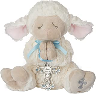 Ganz Serenity Lamb With Crib Cross Christening or Baptism Gift (Blue (Boy))