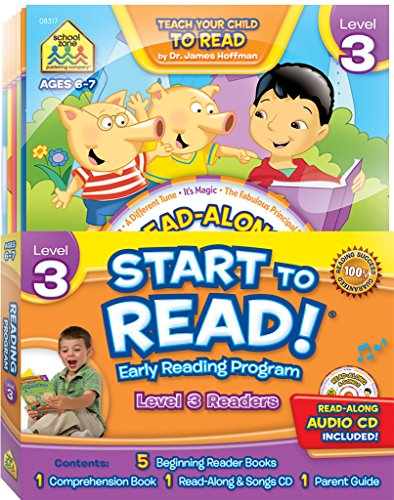 School Zone - Start to Read!® Level 3 Early Reading Program 6-Book Set - Ages 6 to 7, 1st Grade, 2nd Grade, Reading Books, CD, Workbook, Parent Guide (School Zone Start to Read!® Book Series)