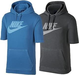 Men's Sportswear Washed Short Sleeve Hooded Pullover
