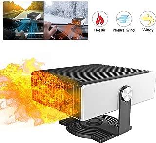 hook.s Riscaldatore per Auto 12V Sbrinamento Riscaldatore di Neve Ventilatore di Riscaldamento per Auto Portatile Ventilatore di Aria Calda