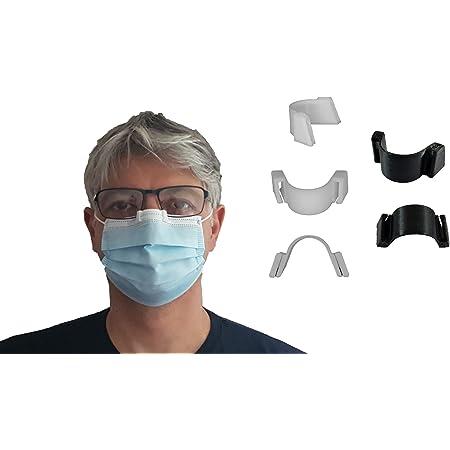 3DEFRANCE - 5 pince nez (3 blancs et 2 noirs) - Empêche la buée - Maintient le masque - Fabriqué en Auvergne - Biodégradable - Matériau souple de qualité supérieure