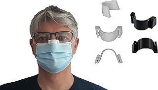3DEFRANCE - 5 pince nez (3 blancs et 2 noirs) - Empêche la buée - Maintient le masque - Fabriqué en Auvergne - Biodégradab...