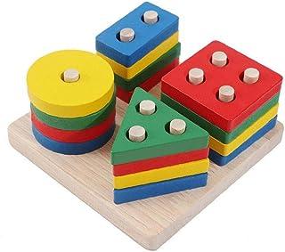 子供 アーリーラーニング 運動 ハンズオン 能力 おもちゃ マッチング 1セット カラフル 幾何学図形