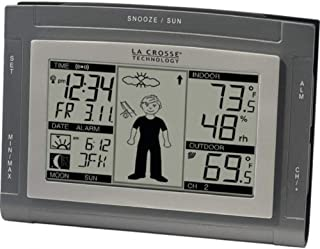 LCR9611UITCBP - LA CROSSE TECHNOLOGY WS-9611U-IT-CBP Wireless Weather Station with Sun Moon amp; Advanced Forecast Icons