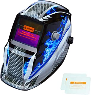 Tekware Welding Helmet Solar Power Auto Darkening Hood Welder Mask Breathable Grinding..