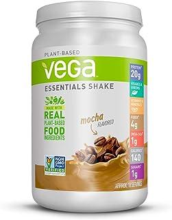 Vega Essentials Protein Powder, Mocha, Plant Based Protein Powder Plus Vitamins, Minerals and Antioxidants - Vegan, Vegeta...