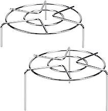 "3 15/16 ""& 1 3/4"" Tall Trivet Rack Stand، سبد چند منظوره سنگین از جنس استنلس استیل ، فشار بخار فشار"