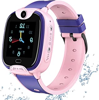 shjjyp GPS Reloj Inteligente NiñOs Smartwatch NiñOs con GPS+Lbs Impermeable Ip67 Sos CáMara Smart Watch Telefono con Ranur...