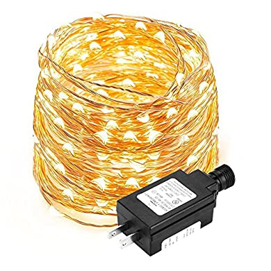 eufy 33 ft White LED Decorative Lights, Starlit String Light, Indoor and Outdoor, IP65 Water-Resistant, Decoration for Bedroom, Patio, Holiday, Wedding, and Party (Copper Wire)