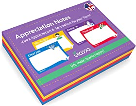 Ulassa Notes - 400 note di appreciazione Kudos Sticky Notes ENGLISH - Awesome - Great Job - Thank You - Very Happy - 100 x...