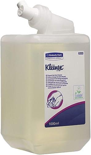 Kleenex 6333 Savon liquide pour les mains, Usage quotidien, 1 cartouche de 1 L, Incolore/Sans parfum, 06333040