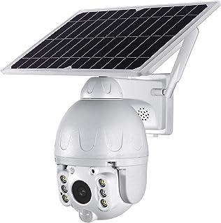 QOZY 4G Solar Security Camera, Wireless Sim Card Outdoor Home Security Camera, Cellular Surveillance Camera, CCTV Dome Saf...