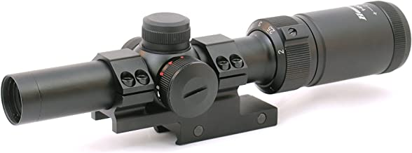 Hammers 1-4x20 Compact Short Rifle Scope w/Illuminated Etched Glass Donut Dot Reticle Offset Scope Mount