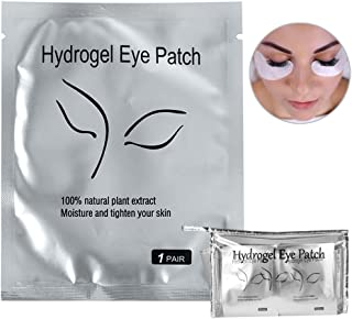 110 Pairs Eyelash Extension Gel Patches Kit, Lash Extension Lint Free Under Hydrogel Eye Mask Pads Beauty Tool with Transparent Cosmetic Bag