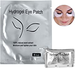110 Pairs Eyelash Extension Gel Patches Kit, Lash Extension Lint Free Under Hydrogel Eye Mask Pads Beauty Tool with Transparent Cosmetic Bag(110 pair)
