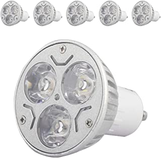 Mengjay 5x La bombilla LED GU10, la lámpara LED GU10 de 3W es equivalente a la bombilla halógena de 30W, GU10 blanco frío de 600K, 240LM, ángulo de haz de 30 °, CA 220-240V, no regulable,