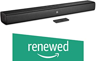 (Renewed) JBL 2.0 Wireless Sound bar with Built in Dual Base Port (Black)