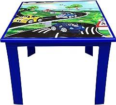 Çocuk Masası Plastik Mavi Araba Resimli H40