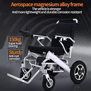 Wheelchair, Aluminum Alloy Electric Wheelchair, Disabled Elderly Folding Portable Scooter, Load 100Kg jkhjghfghgrf SZWHO