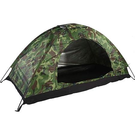 Milestone Camping Dome 2 Man Person Tent H100 x W120 x D200cm