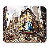 25X30CM Ciudad de Nueva York 22 de Agosto Veces destacados Broadway Theatres Mouse Pad
