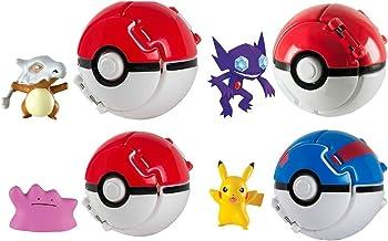Rocco Juguetes T18873–Pokemon Throw 'n Pop Poké Ball, 1 unidad [Personajes Surtidos]