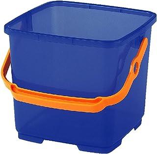 小原産業 洗車バケツ 9L角型バケツ 半透明 ブルー