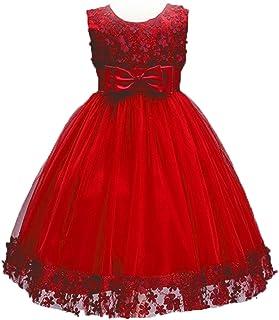 Forpend 子供ドレス F011 パーティー 女の子 フォーマルドレス 結婚式 入園式 発表会 演奏会 ワンピース キッズドレス プリンセスドレス レッド Princess Dress