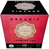 Empire of Tea USDA Organic Jasmine Individually Wrapped Bulk Tea Bags, 100 Count