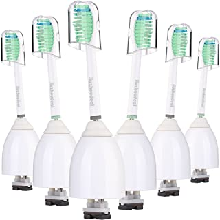 Jiuzhoudeal Replacement Toothbrush Heads Compatible with Philips Sonicare E Series HX7022, Fit Sonicare Essence, Xtreme, Elite, Advance and CleanCare Electric Toothbrush Brush Handles, 6 Pack