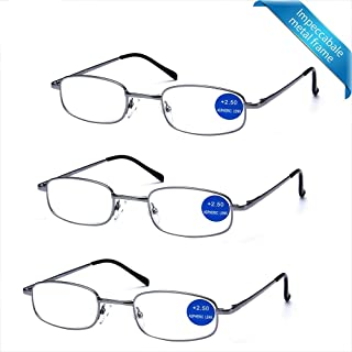 2b08342b13e4 IMPECCABLE METAL frame and crystal clear vision - Viscare 3-Pack Men Women  Metal Spring