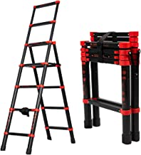 5+7 Extension Ladder,Aluminum Multi-Position Telescoping Ladder,One-Button Sliding Retraction Step Ladder Telescopic,Adjus...