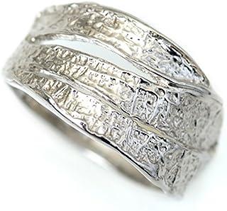 プラチナ リング 指輪 Pt900 樹皮のような 表面加工 程よい抜け感の切り込み 個性派リング 地金 プラチナ デザイン リング (13)