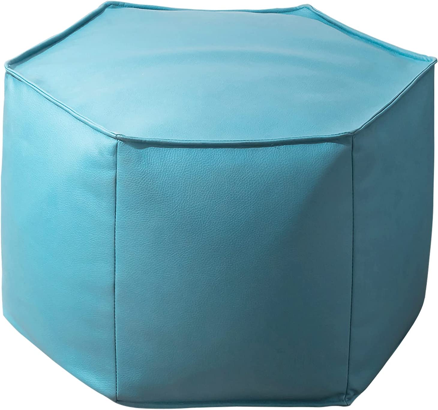 Online limited product HIGOGOGO Special sale item Modern Upholstered Pouf Footstool wi Leather Faux