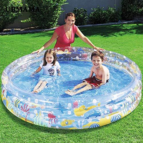 SUNHAON 183x33cm Rundes Planschbecken, Schwimmbäder Für Gärten, Kinder Gartenspielzeug, Pavillon Gartenmöbel, Kinder Aufblasbarer Pool Sicher Und Komfortabel