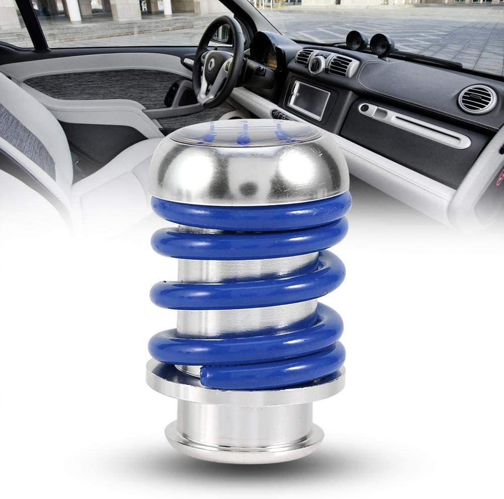 Manual 5 Speed Gear Shift Knob Black Universal Car Spring Gear Shifter Knob Stick Head Lever with 3 Adapters 8mm 10mm 12mm