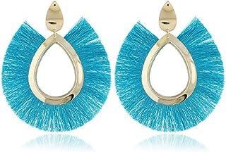 OETY Fashion Tassel Earrings for Women Big Fringe Earings Fashion Jewelry Holiday Female Summer Style Bohemian Hanging Drop Earrings