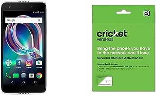 Alcatel Idol 5S - 32 GB - Unlocked (AT&T/Sprint/T-Mobile/Verizon) - Crystal Grey and Cricket Wireless BYOD Prepaid SIM Card