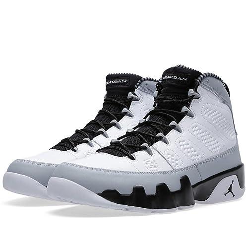 Jordan Air 9 Retro Birmingham Barons Mens Basketball Shoes White/Black-Wolf Grey 302370