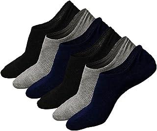 Calcetines Invisibles Hombre Calcetines Cortos de Algodon Para Verano, Hombre Respirable Calcetines de Deporte e Informal, Antideslizante, 3/6 Pares