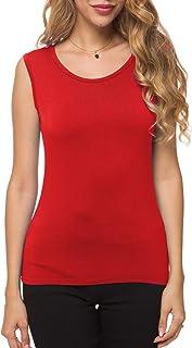 Herou Women Modal Light Weight Sleeveless Long Sleeve Turtleneck Top