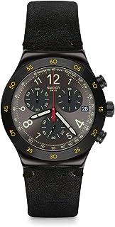 ساعة سواتش فيدي كرونوغراف كوارتز مينا سوداء للرجال YVB410