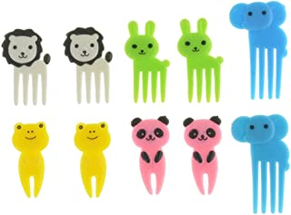Lovely Animal Food Fruit Picks Forks,10PCS Bento Box Lunch Box Decor Baby Food Picks Fruit Picks for Kids Randomly(Randomly)