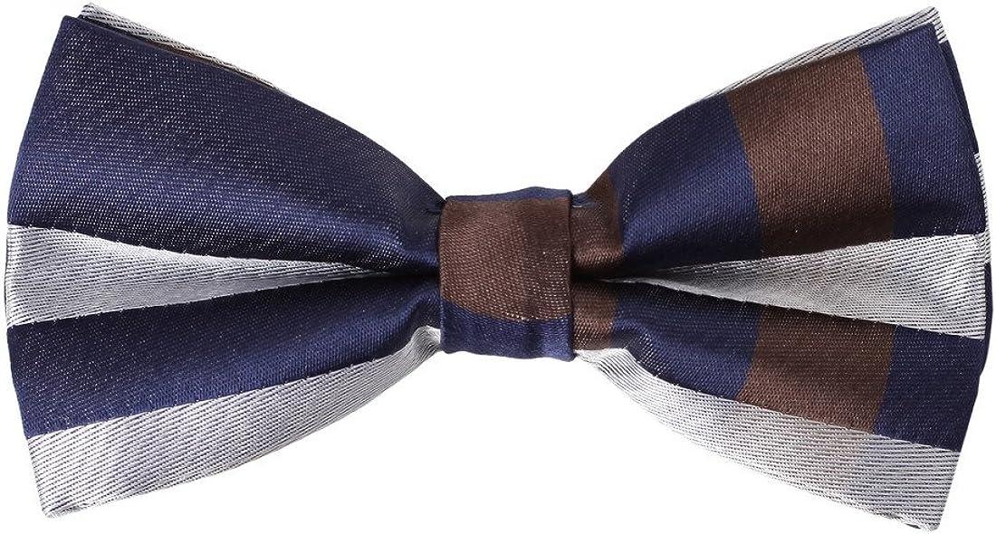Dan Smith Men's Fashion Classy Checkered Microfiber Pre-tied Bow Tie Formal Wear With Box